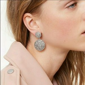 Crystal pave statement earrings